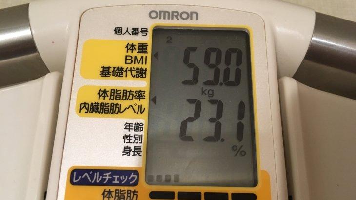 2019/7/1〜2019/7/15 体重経過と運動の記録 詳細  (ヨガを始めたい)