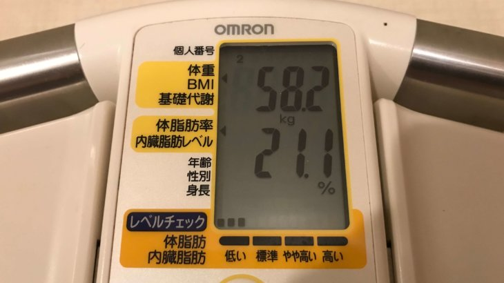 2019/9/1〜2019/9/15 体重経過と運動の記録詳細