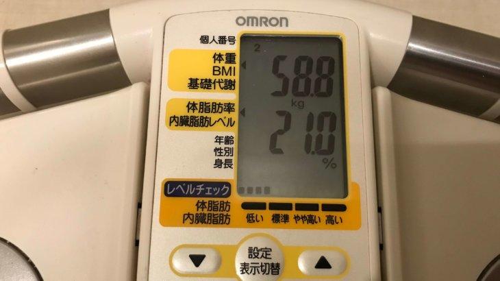 2019/9/15〜2019/9/30 体重経過と運動の記録詳細