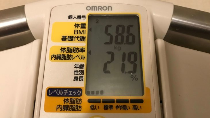 2019/10/16〜2019/10/31 体重経過と運動の記録詳細