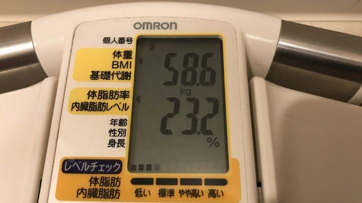 2019/12/1〜2019/12/15 体重経過と運動の記録詳細