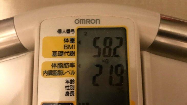 2019/11/16〜2019/11/30 体重経過と運動の記録詳細