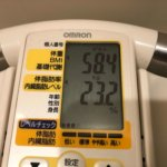 2020/1/1〜2020/1/15 体重経過と運動の記録 詳細