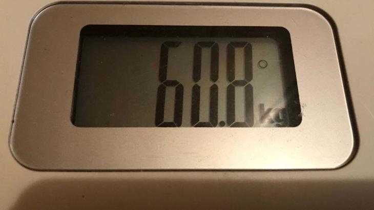 2019/12/16〜2019/12/31 体重経過と運動の記録 詳細