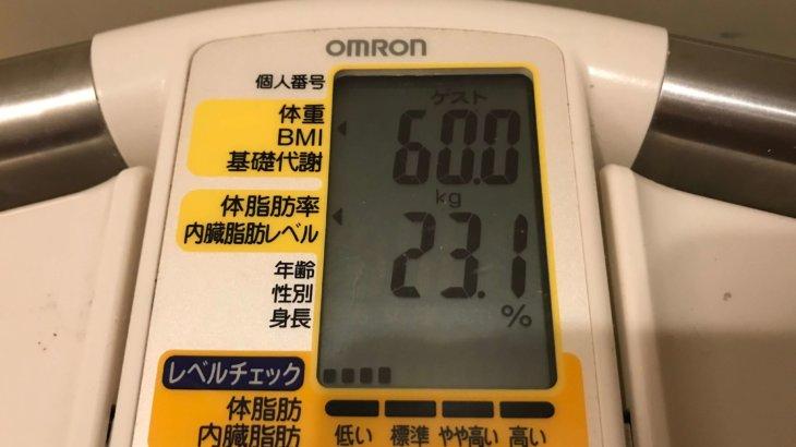 2020/2/1〜2020/2/15 体重経過と運動の記録 詳細