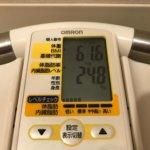 2020/2/16〜2020/2/29 体重経過と運動の記録 詳細