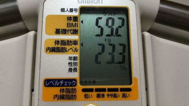 2020/3/16〜2020/3/31 体重経過と運動の記録 詳細