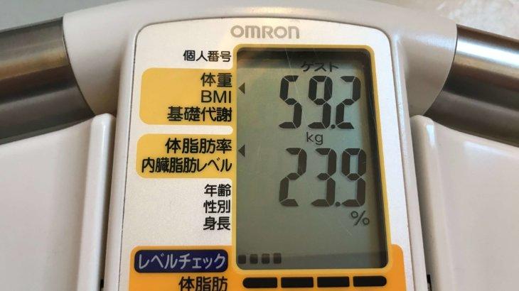 2020/4/1〜2020/4/15 体重経過と運動の記録 詳細