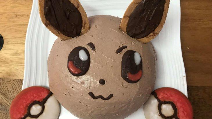 ポケモン イーブイの立体ケーキ作り