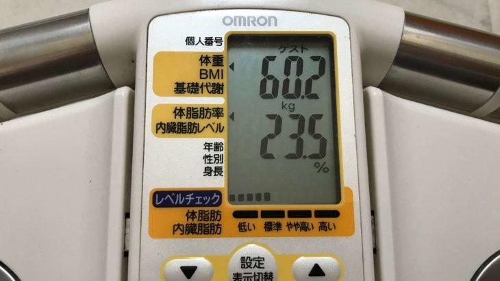2020/7/16〜2020/8/15 体重経過と運動の記録 詳細