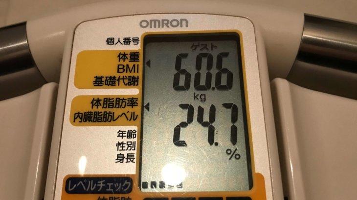 2020/9/16〜2020/10/15 体重経過と運動の記録 詳細