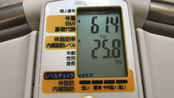 2020/10/16〜2020/11/15 体重経過と運動の記録 詳細