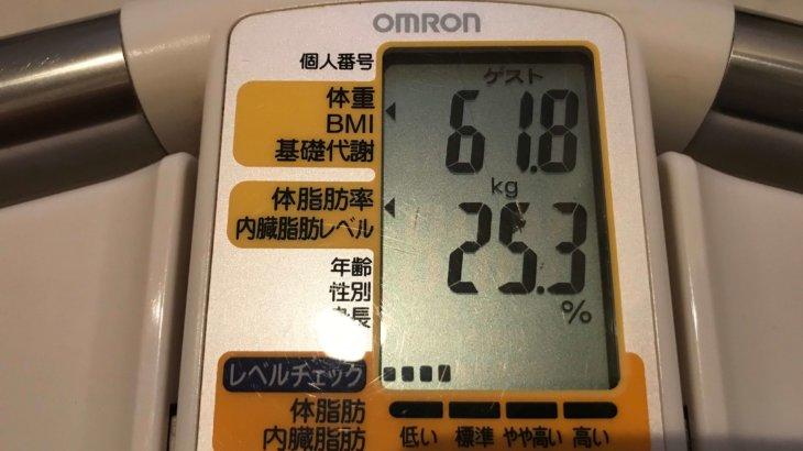 2020/11/16〜2020/12/15 体重経過と運動の記録 詳細