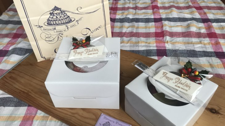 AIGRE DOUCE クリスマスケーキ エーグル ドゥースのケーキでhappyクリスマス