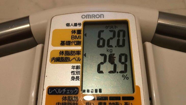 2020/12/16〜2021/1/15 体重経過と運動の記録 詳細