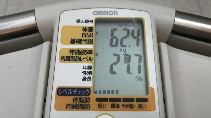 2021/2/16〜2021/3/15 体重経過と運動の記録 詳細