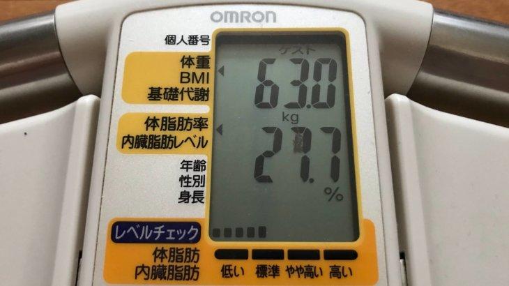 2021/3/16〜2021/4/15 体重経過と運動の記録 詳細