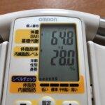 2021/8/16〜2021/9/15体重経過と運動の記録詳細